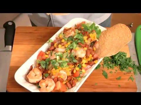 Grilled Shrimp With Corn & Black Bean Salad: Shrimp & Seafood Salads
