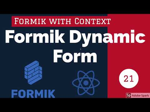 React Formik Dynamic Forms Part 1 #23