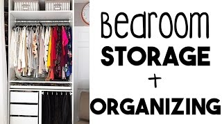 ORGANIZE: 5 Tips to Bedroom Organization & Storage | Making the MOST of Our Small Storage!!
