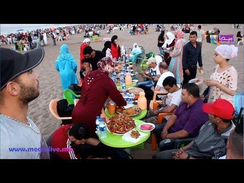 حفل افطار بالهواء الطلق بشاطئ المركز بالمحمدية لفائدة اطر جمعية نهظة زناتة