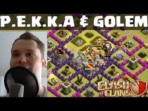 [facecam] CLASH OF CLANS    P.E.K.K.A & GOLEM ANGRIFF    LP COC [Deutsch/German HD]
