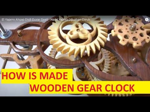 Handmade wooden gear clock by oğuzhan çoruh