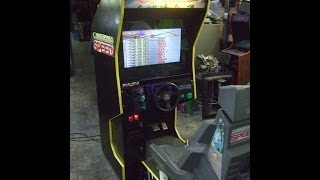 #389 Atari CALIFORNIA SPEED Cockpit Arcade Video Game with LCD Monitor TNT Amusements