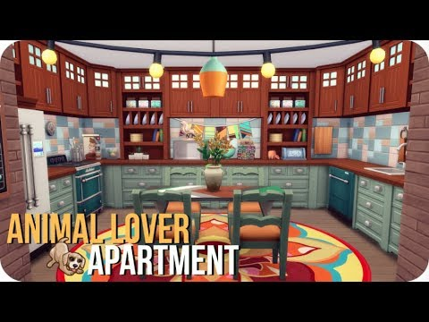 ANIMAL LOVER APARTMENT 🐸   Sims 4 Speed Build