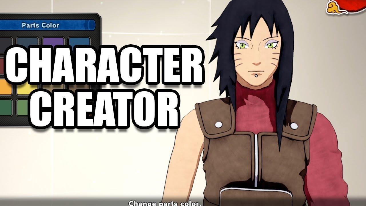 naruto to boruto shinobi striker character creation