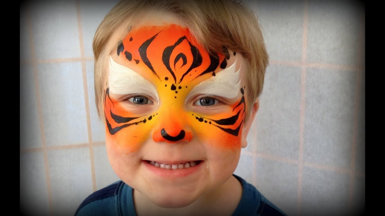 Easy tiger face paint - photo#15