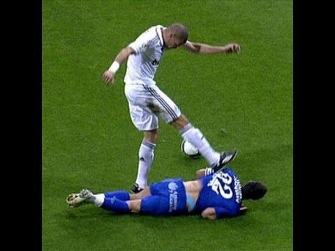 Pepe vs Casquero , Real Madrid - Getafe 21/04/2009 - YouTube