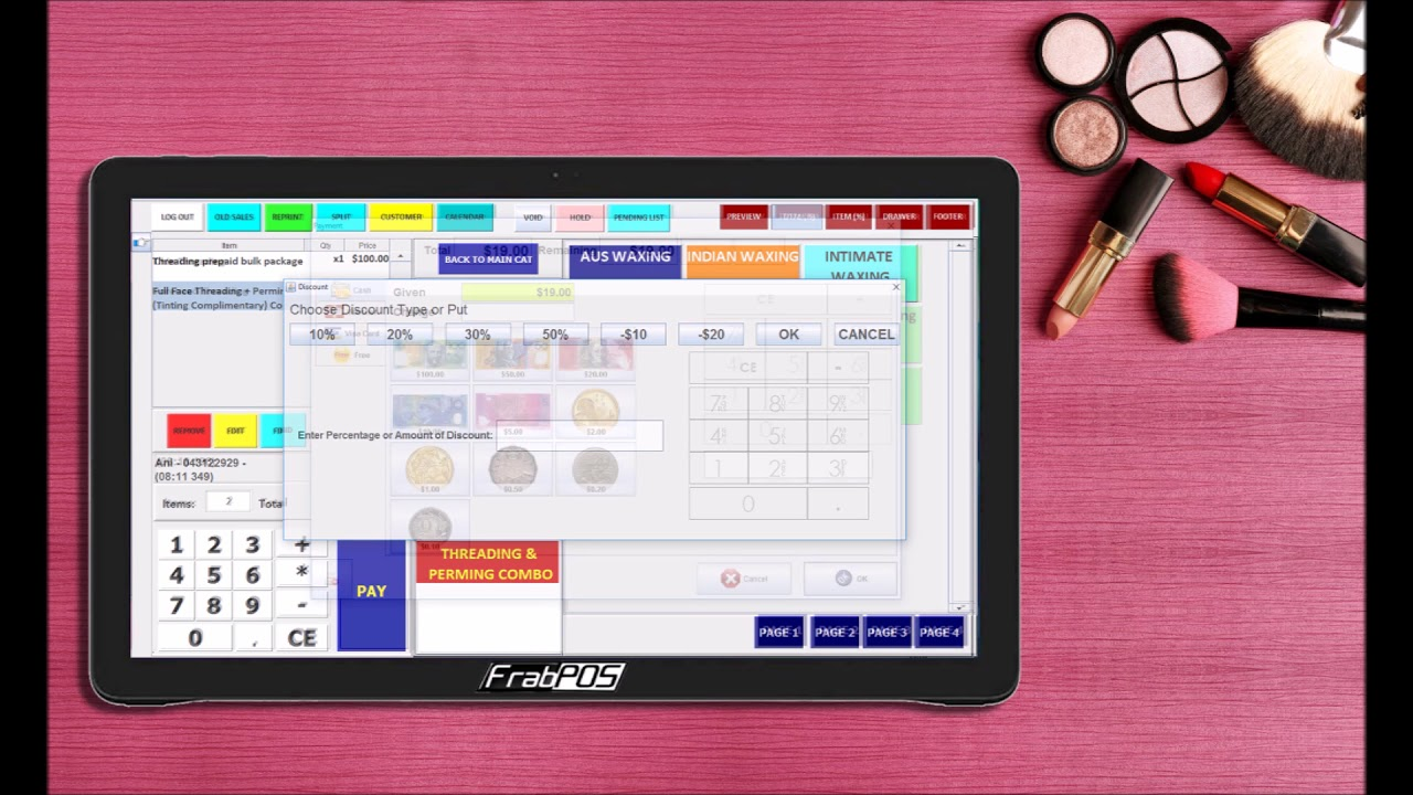 Pos System For Barber Shop Beauty And Nails Salon