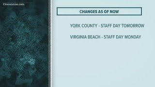 School divisions make schedule changes in anticipation of coronavirus