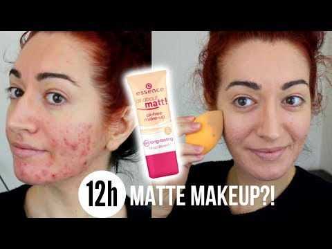 12 HOUR FOUNDATION FOR OILY SKIN?! Essence All About Matt Review | Jess Bunty