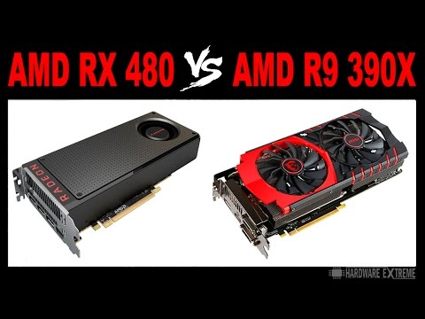 AMD RX 480 vs AMD R9 390X - Full HD e 4K