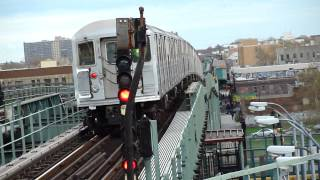 IRT Livonia Avenue Line: New Lots Av & Borough Hall bound R-62 4 trains @ Junius St! *1400th vid*