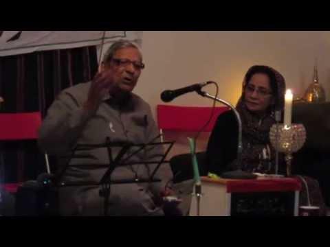 Manzar Ayubi in Mushaira held in Balkhi Farm Toronto