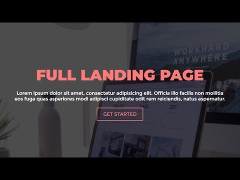 Animated Full Landing Page Using Only HTML & CSS