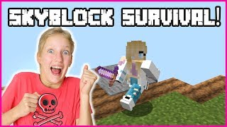 SURVIVING ON A SKYBLOCK!!!