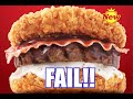 KFC KOREA ZINGER DOUBLE DOWN BURGER FAIL