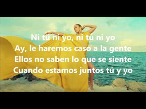 Jennifer Lopez  -  Ni Tu Ni Yo {LYRICS VIDEO}