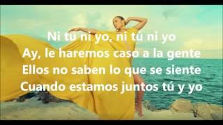 Jennifer Lopez  -  Ni Tu Ni Yo {LYRICS VIDEO}