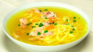 Куриный суп с лапшой. Рецепт от Всегда Вкусно!