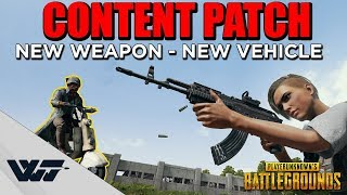 PATCH GUIDE: Content Patch! NEW WEAPON (M762) - NEW VEHICLE (Scooter) & more - PUBG