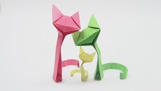 Origami Cat by Richard Wang - Yakomoga Origami Cat of the Dollar (money) tutorial  折り紙 猫