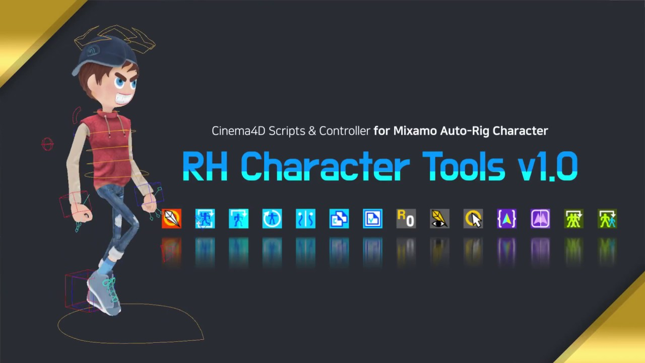 [ Mixamo To Cinema4D ] RH Character Tools v1 0 | Now On Sale!