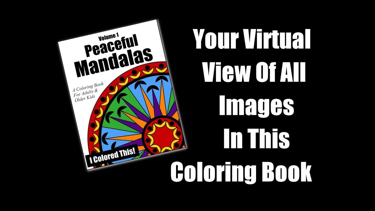 Preview Of Peaceful Mandalas Volume 1