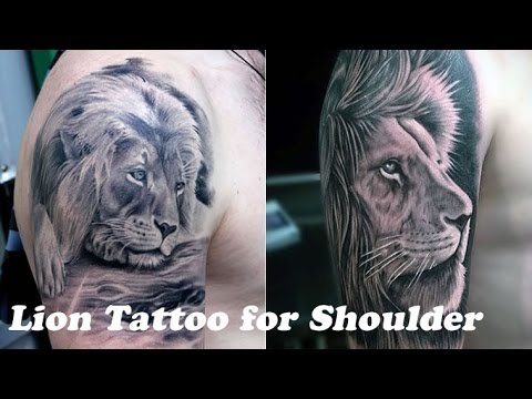 30 Best Lion Tattoo for Your Shoulder 2018