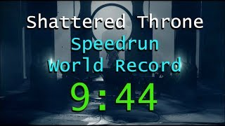 Destiny 2 - Shattered Throne Speedrun World Record (9:44)