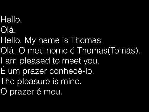 Learn Portuguese Conversation - Brazilian - 1 English 3 Portuguese