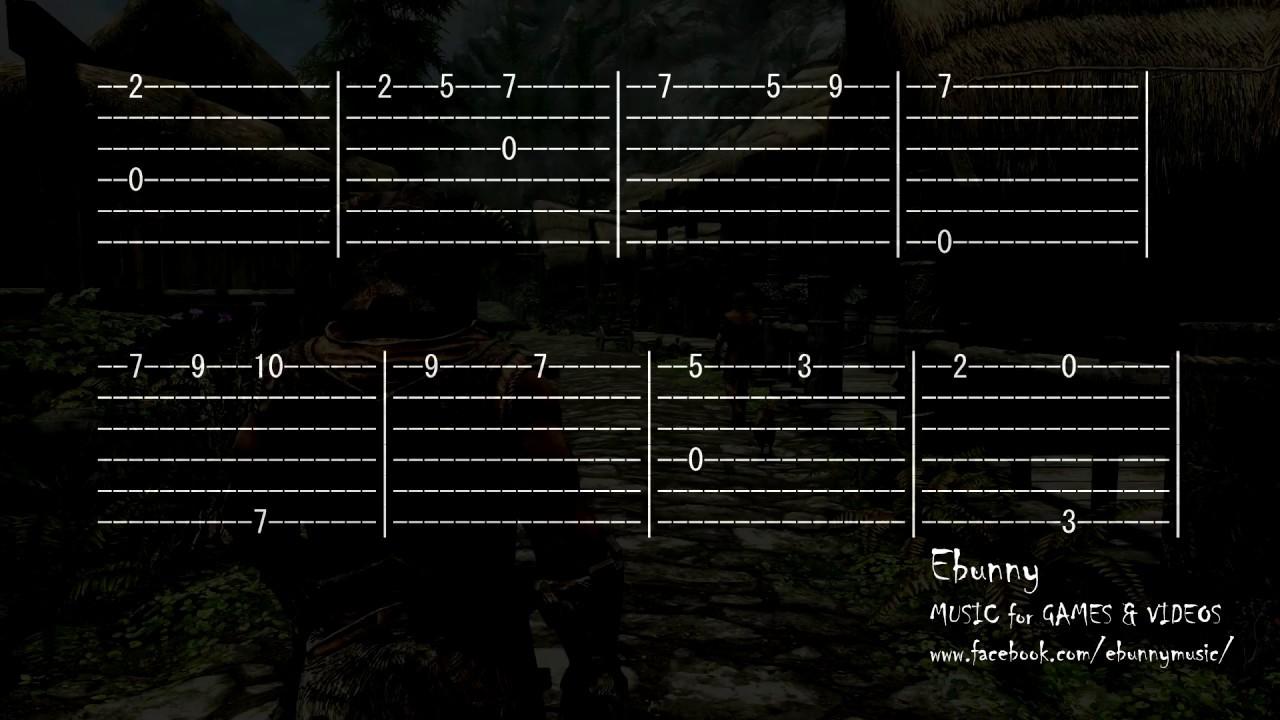 Skyrim Music Dovahkiin Dragonborn Full Acoustic Guitar Tab By