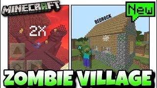 Minecraft - ZOMBIE VILLAGE & DOUBLE BLAZE ( Seed Showcase )  MCPE / Xbox / Switch / Bedrock