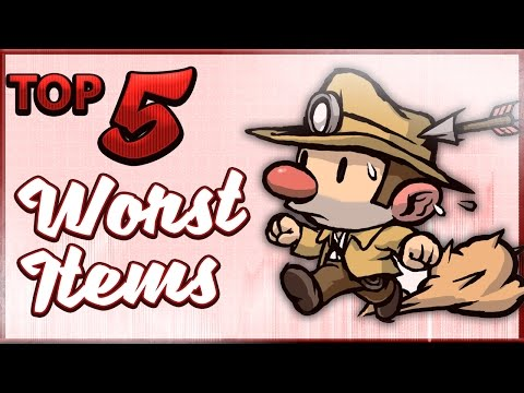 Top 5 WORST Items in Spelunky!