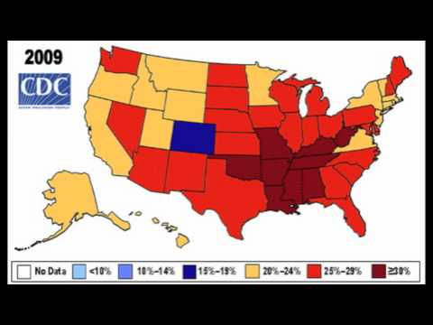 National Obesity Map