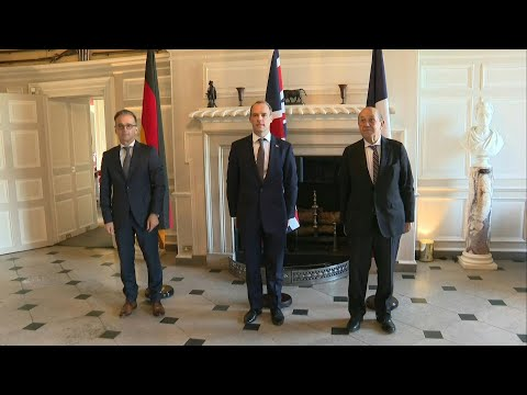 British, French and German Foreign ministers meet in Chevening | AFP