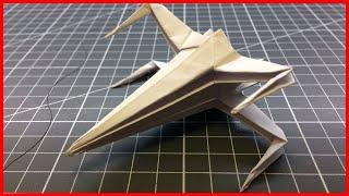 как сделать космический корабль из бумаги