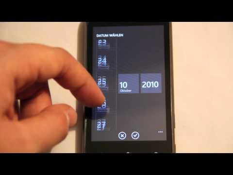 First Boot of Windows Phone 7 on the HTC 7 Mozart