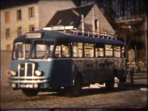 Document d'archives -  gare routière de Nevers 1955