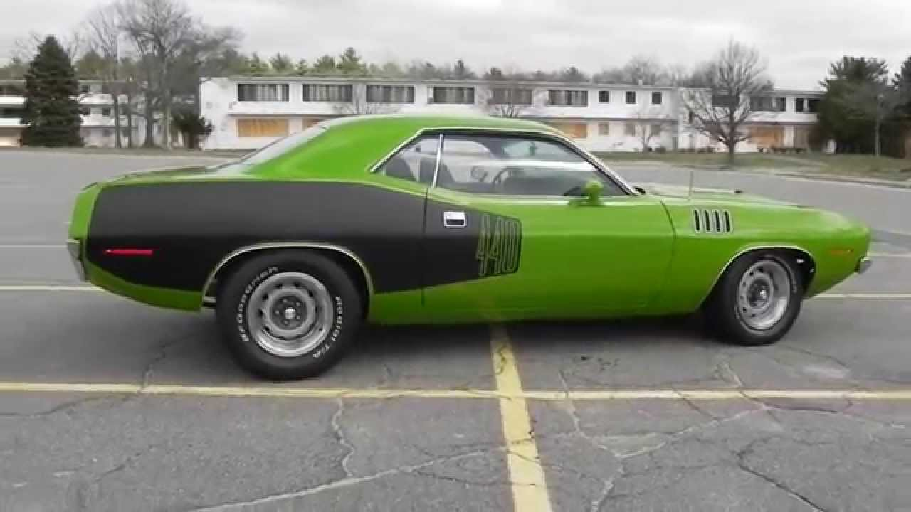 1971 Plymouth Cuda 440 6 Pack 5 Speed Youtube