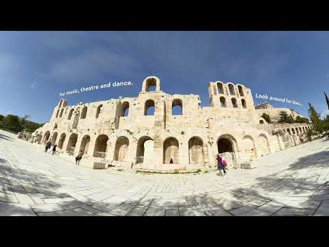 Athens, Looking around in 360 VR 8K