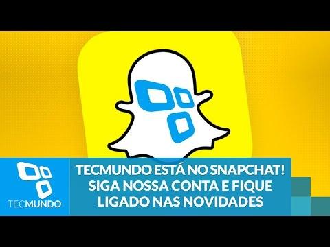 TecMundo Está No Snapchat! Siga Nossa Conta E Fique Ligado Nas Novidades