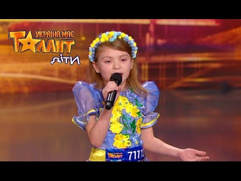Little patriot with amazing song on Ukraine's Got Talent.