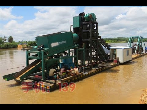 SLK-WD100 Chain bucket gold/diamond mining dredger for Guinea