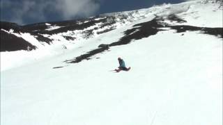 stop training of slipping down in Mt. Fuji during winter -- it carries out  Failure!!!