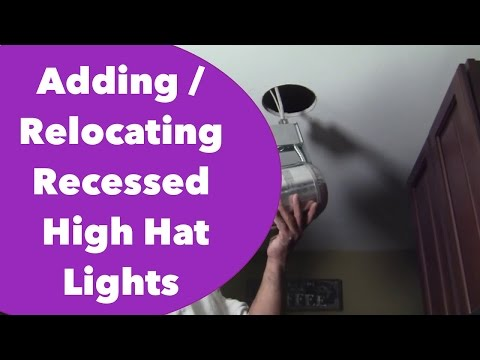 Adding more or Relocating Recessed / High Hat Lights