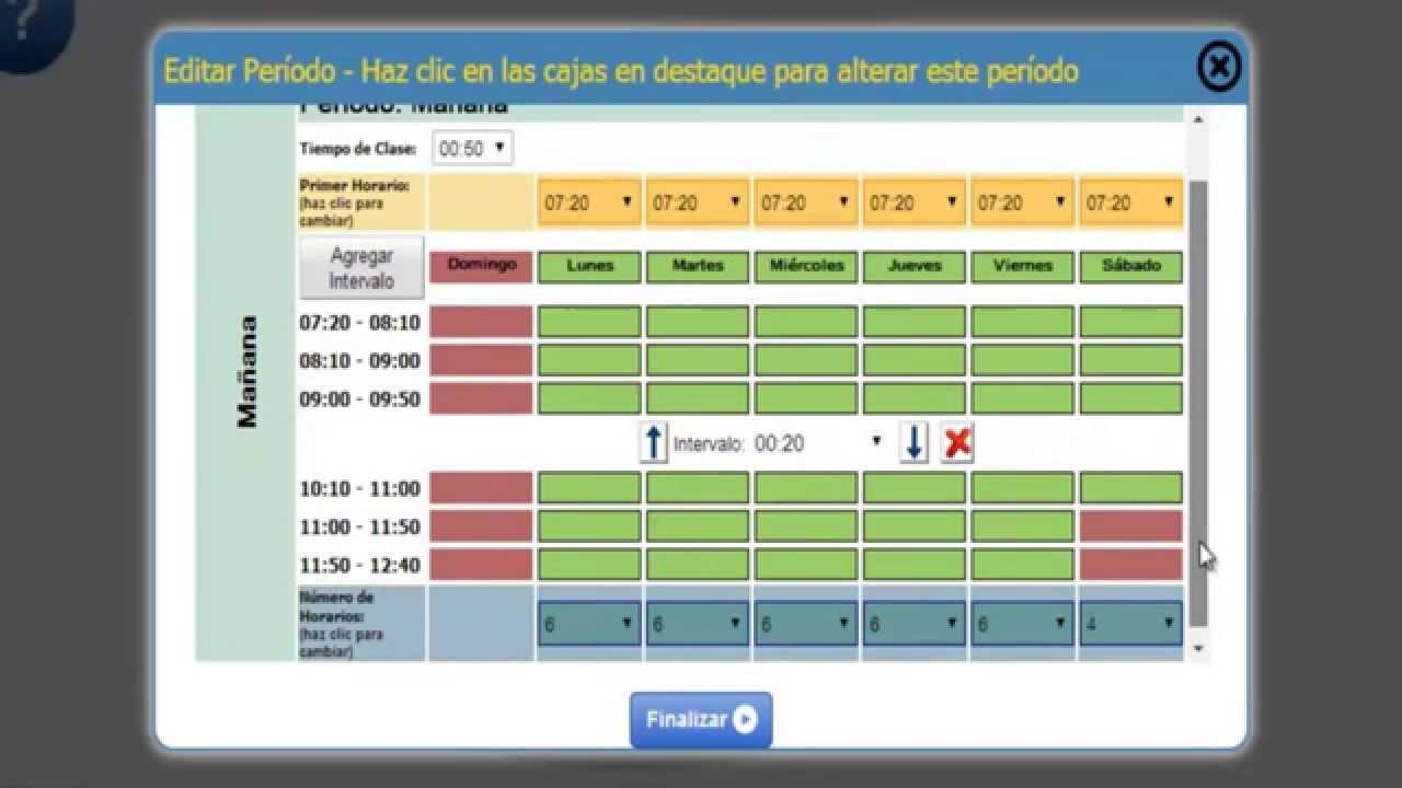 Programa para hacer horario escolar tutorial paso 2 for Programa para hacer cocinas integrales gratis