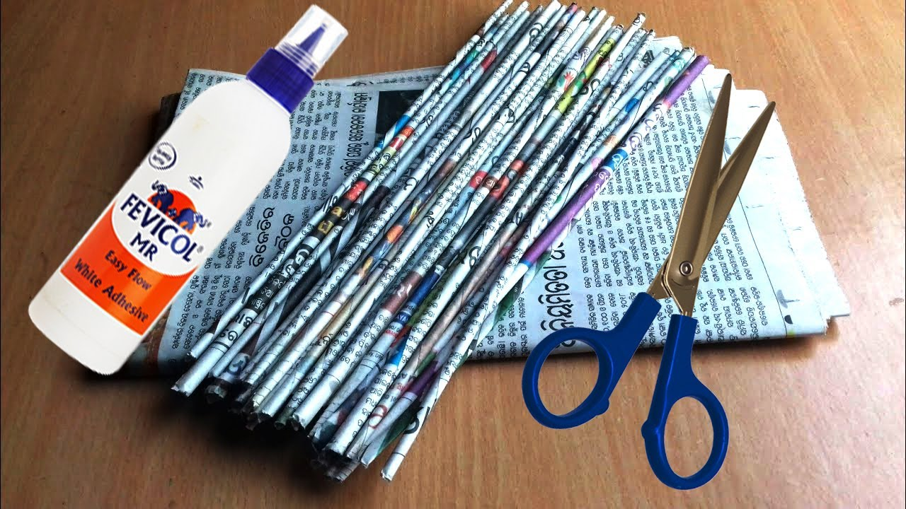 DIY Creative Ideas with Newspapers   Newspaper Wall Hanging   Newspaper Crafts For Kids