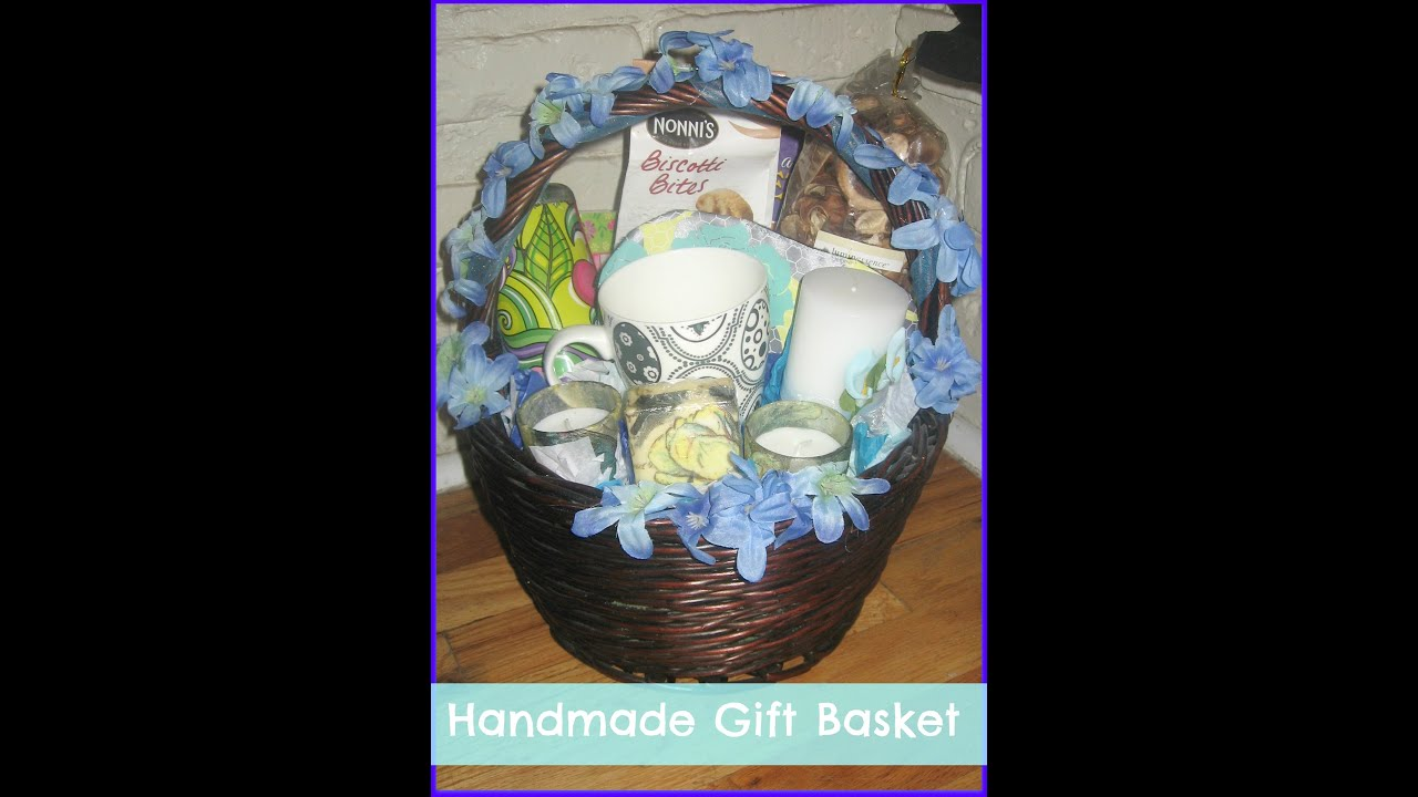 how to make a handmadediy simple gift basket how to ship a gift basket in the mail youtube