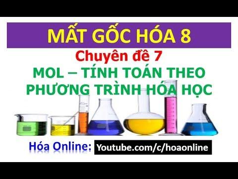Mol và tính toán theo phương trình hóa học – Chuyên đề 7 || Mất gốc hóa 8