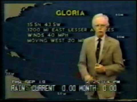 Hurricane Gloria 1985 - Weather Channel - PART #1 of 5 -